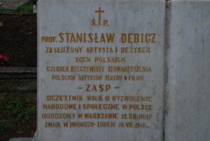 Zakończona renowacja nagrobka aktora Stanisława Dębicza