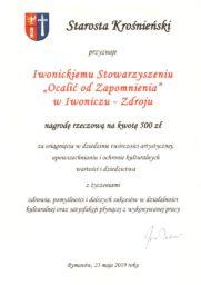 Odznaczenie dla Prezesa i nagroda dla Stowarzyszenia